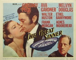 The Great Sinner Original US Title Lobby Card