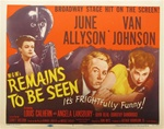 Remains To Be Seen Original US Title Lobby Card