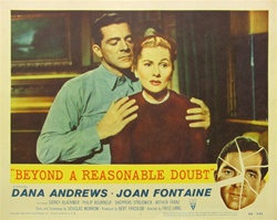 Beyond A Reasonable Doubt Original US Lobby Card