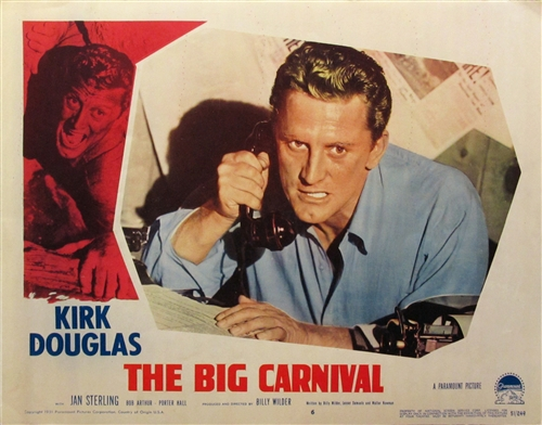 the big carnival original us lobby card vintage movie poster kirk