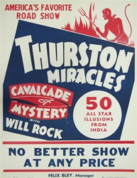 Thurston Miracles Original Magic Poster