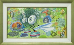 Aaron Marshall Eye Original Painting