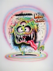 Stanley Mouse Wild Child 2 Silkscreen Airbrushed by Hand