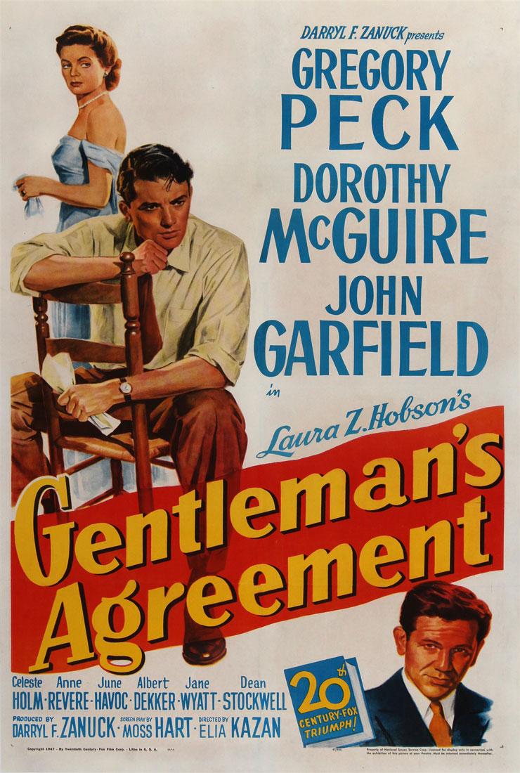 Gentlemans Agreement Original Us One Sheet Vintage Movie Poster