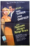 The Postman Always Rings Twice Original US One Sheet