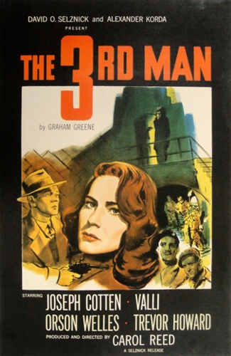 The Third Man Original US One Sheet Vintage Movie Poster Orson Welles