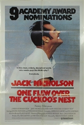 One Flew Over the Cuckoo's Nest US One Sheet