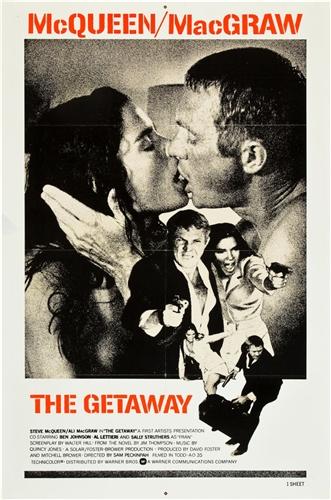 the getaway original international one sheet vintage movie poster steve mcqueen. Black Bedroom Furniture Sets. Home Design Ideas