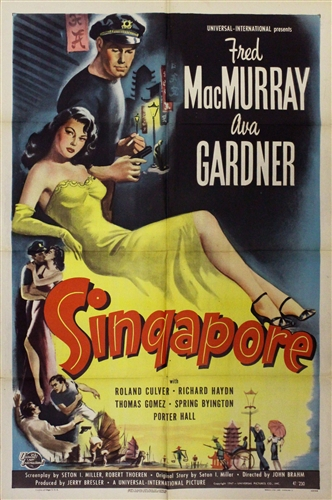 Singapore Original Us One Sheet Vintage Movie Poster Ava Gardner