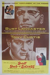 Sweet Smell of Success Original US One Sheet