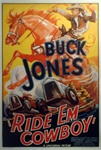 Buck Jones Ride Em Cowboy Original US One Sheet