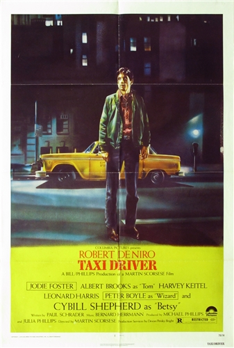 Taxi Driver Original US One Sheet Vintage Movie Poster ...