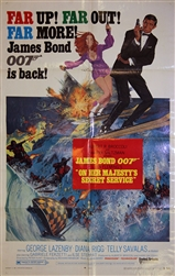 On Her Majesty's Secret Service Original US One Sheet