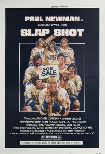 Slap Shot Original Us One Sheet Vintage Movie Poster Paul Newman