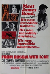 From Russia With Love Original US One Sheet