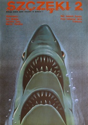 Polish Movie Poster Jaws 2