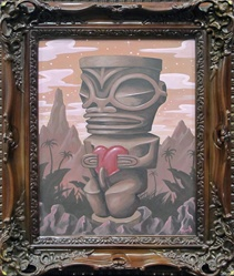 Pooch Tiki's Twilight Original Painting