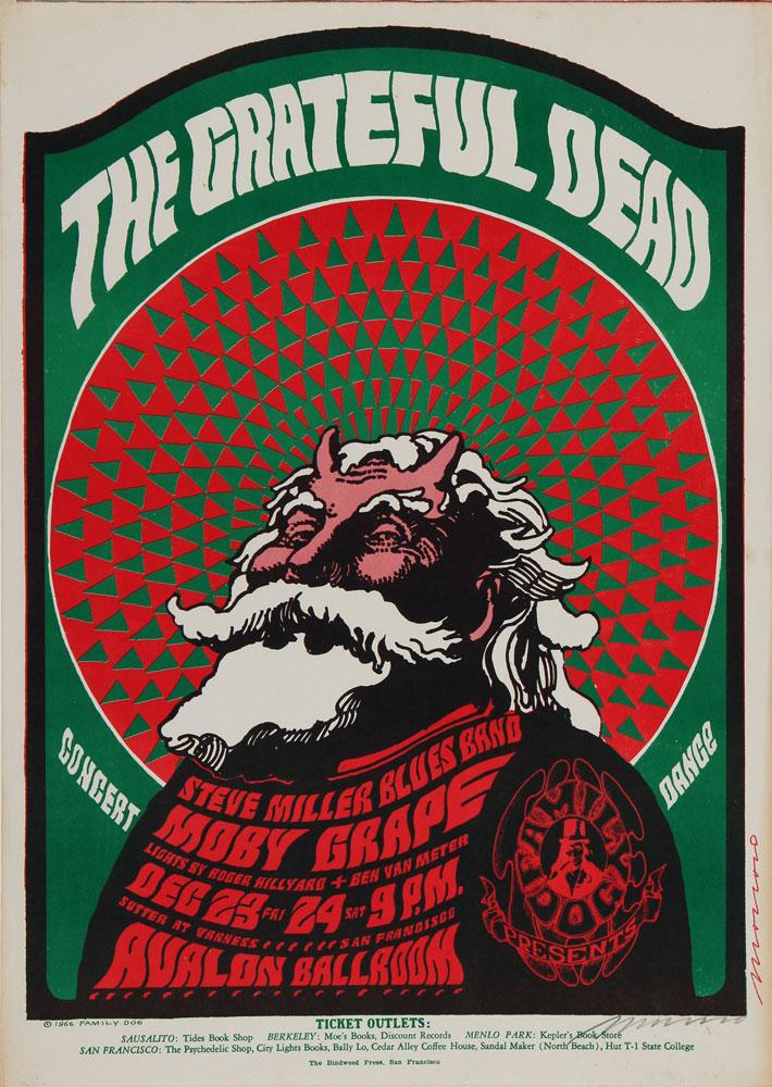 the grateful dead original avalon concert poster original concert