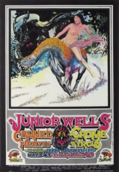 Junior Wells And Canned Heat Original Concert Poster