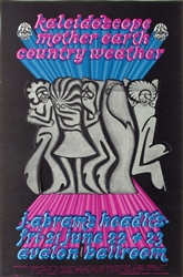 Kaleidoscope And Mother Earth And Country Weather Original Concert Poster