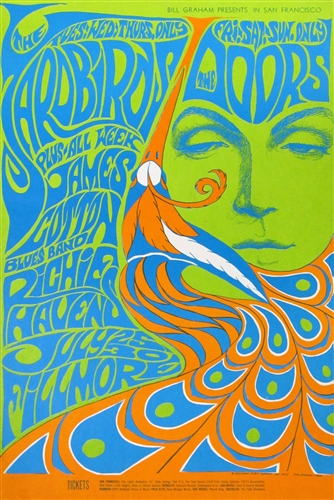 Our ...  sc 1 st  Lu0027Imagerie Gallery & Yardbirds And The Doors Original Concert Poster Vintage Rock Concert ...