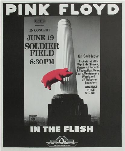 Pink Floyd Concert Poster Vintage Rock Soldier Field
