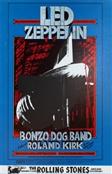 Led Zeppelin and Bonzo Dog Band Original Concert Postcard