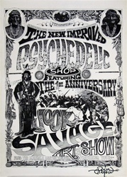The New Improved Psychedelic Shop Original Art Show Poster