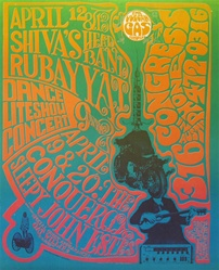 Shivas Head Band Original Texas Concert Poster