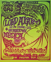 Lord August Original Texas Concert Poster