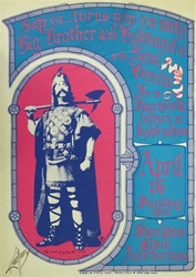 Big Brother and the Holding Company Original Concert Poster
