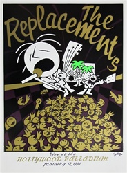 The Replacements Original Concert Poster