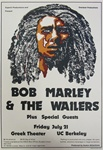 Bob Marley And The Wailers Original Concert Poster