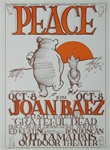 Grateful Dead And Joan Baez Peace Concert Poster