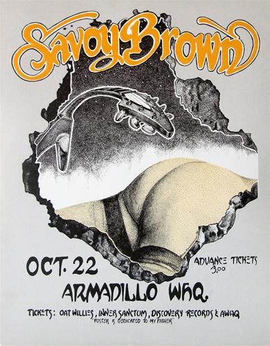 Savoy Brown Original Concert Poster