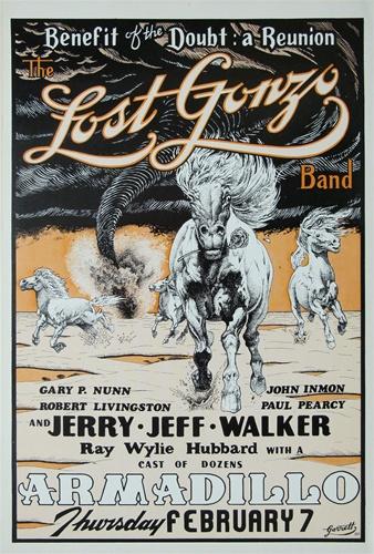 Jerry Jeff Walker Original Concert Poster