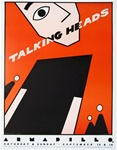 Talking Heads Original Concert Poster