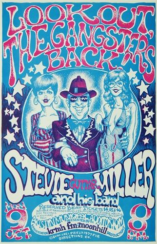 Steve Miller At The Austin Municipal Auditorium Original Concert Poster