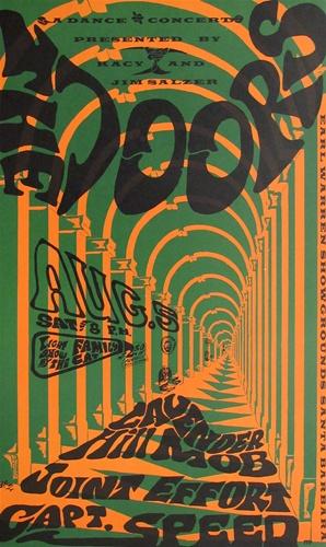 The Doors At Earl Warren Showgrounds Original Concert Poster Vintage Rock