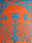 Jimi Hendrix At The Earl Warren Showgrounds Original Concert Poster