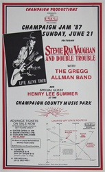 Original Stevie Ray Vaughan And Gregg Allman Original Concert Poster