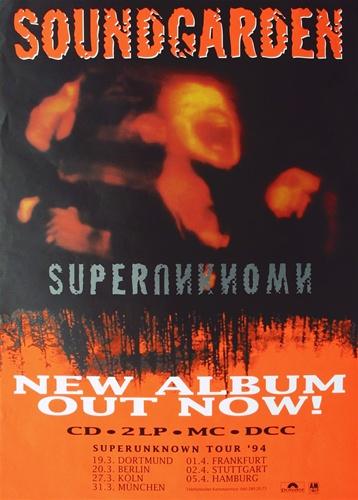 1994 vintage concert poster Red Rocks Soundgarden