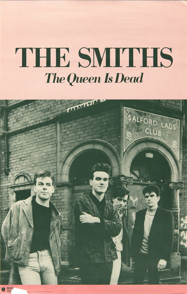 The Smiths Original Promotional Poster For The Queen Is Dead