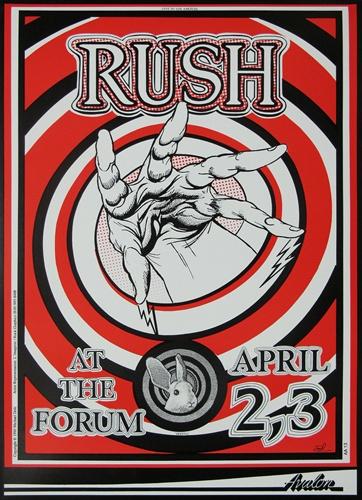 Rush Original Concert Poster