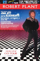 Robert Plant And Joan Jett And The Blackhearts Original Concert Poster