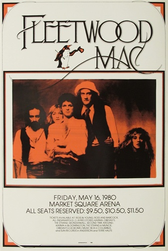 Fleetwood Mac Original Concert Poster Vintage Rock Poster Stevie Nicks