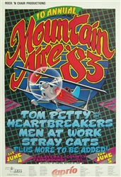 10th Annual Mountain Aire Festival Original Concert Poster