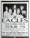 The Eagles The Long Run Tour 79 Original Concert Poster 