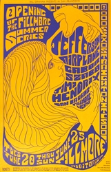 Jefferson Airplane And Jimi Hendrix Original Concert Poster