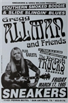 Gregg Allman And Friends Original Concert Poster
